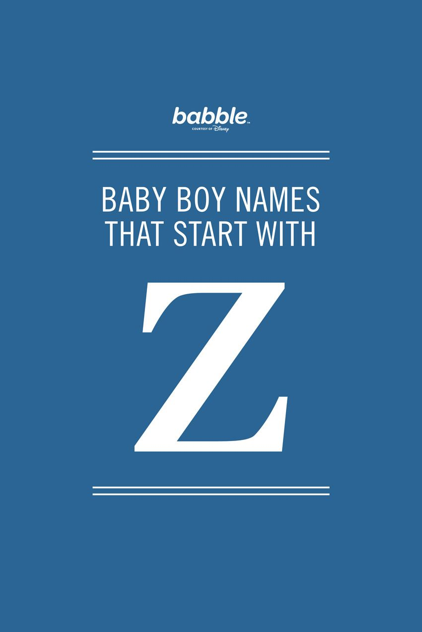 Baby names for boys starting with z