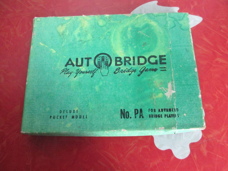 1957 AutoBridge, Play-Yourself Bridge Game by VintageVeneers on Etsy