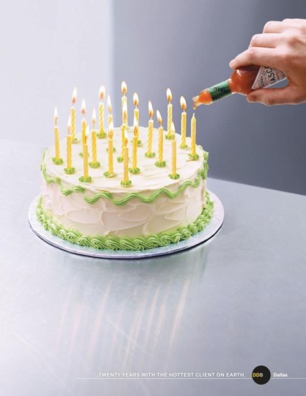 20th Anniversary Cake Print Ad By Tracylocke Creative ...