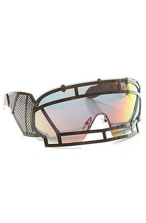13ef9d7ca4b1 The KTZ x Linda Farrow Football Helmet Sunglasses in Black Stainless Steel  by Linda Farrow Projects