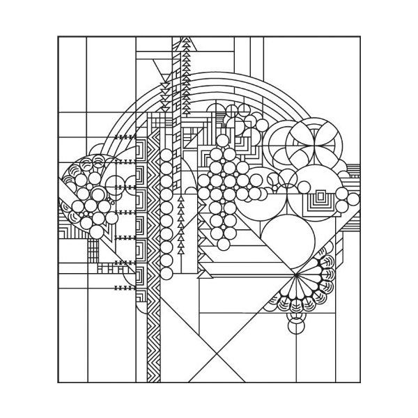Frank Lloyd Wright Coloring Pages Google Search Glass Patterns