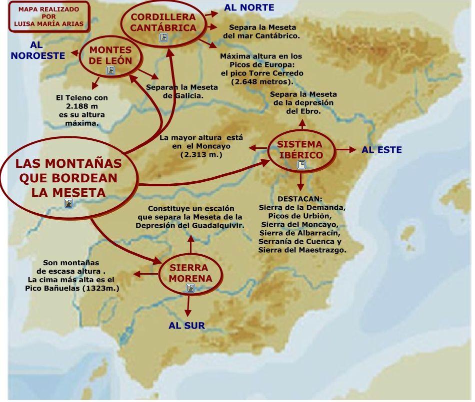 Relieve España Y Península Ibérica