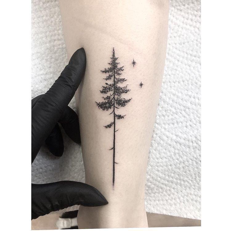 Minimal Inspiration Inkstinct In 2020 Pine Tattoo Tree Tattoo Designs Nature Tattoos