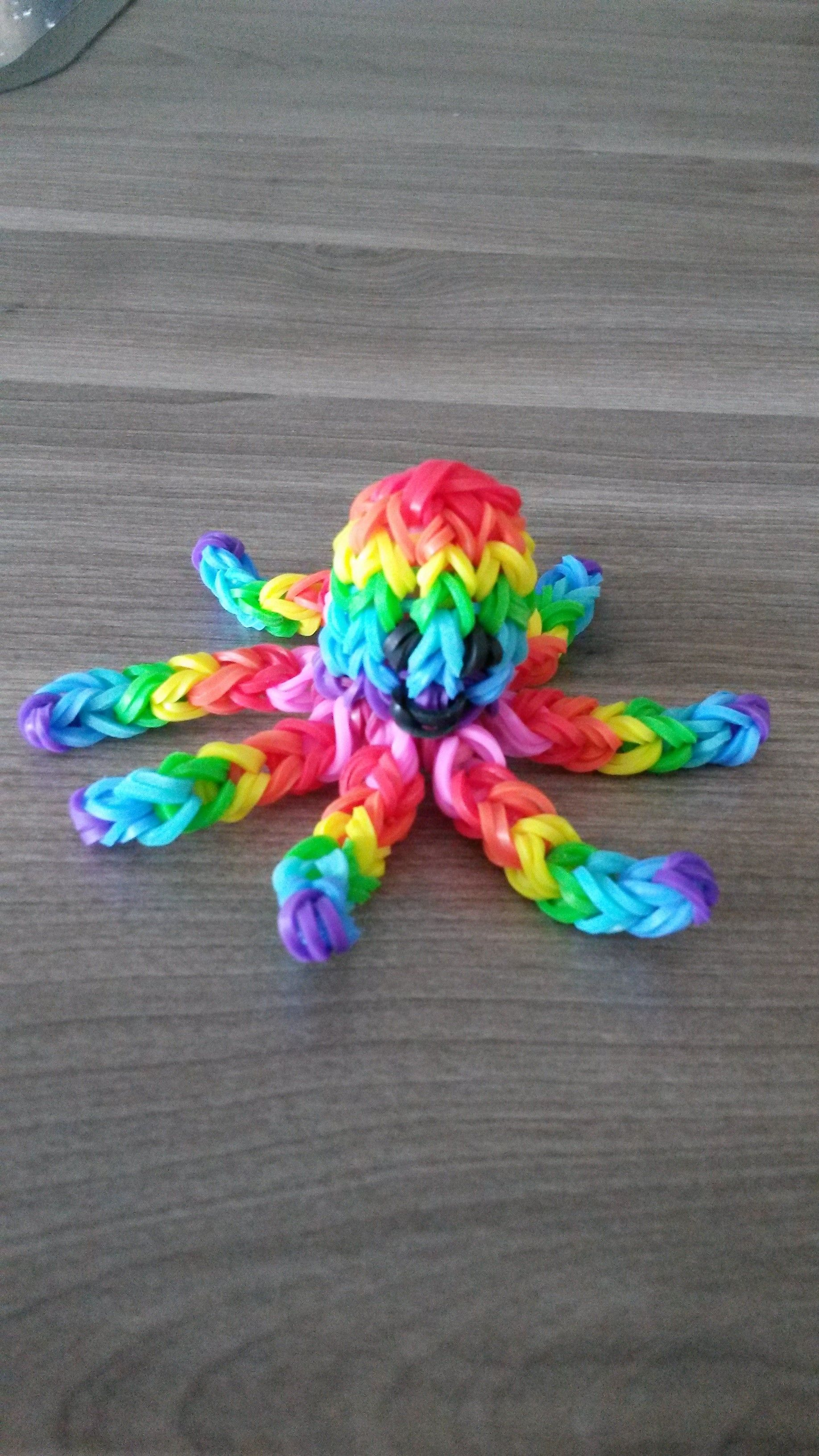 rainbow loom octopus 3d crazy loom manon pinterest elastique loom la grande et rainbow loom. Black Bedroom Furniture Sets. Home Design Ideas