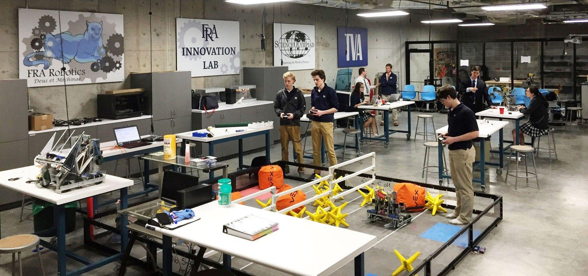 image result for high school robotics lab