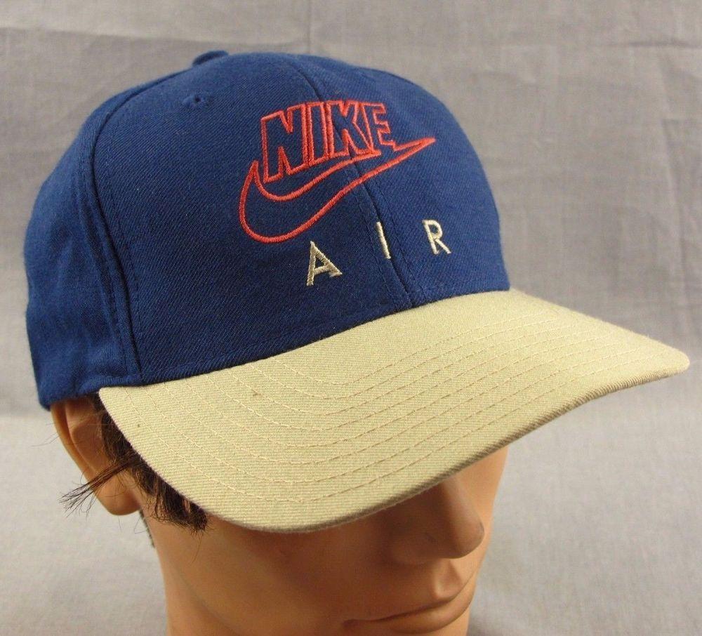 9dd04ab5d84 Vintage Nike Air Hat Ball Cap Adjustable Strapback Navy Blue 1990 s  Streetwear  Nike  BaseballCap