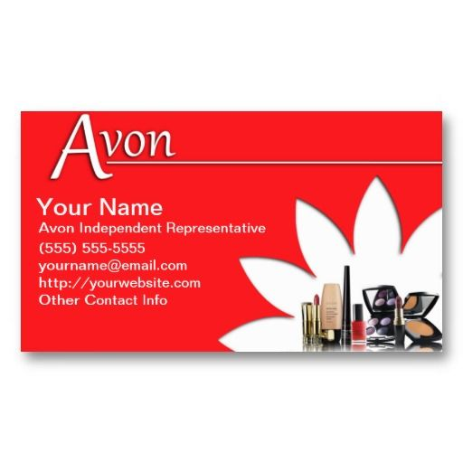 Avon Business Cards Avon Business Cards Templates Pinterest Avon - Avon business card template