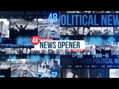 News Opener Videohive After Effects Templates Broadcast