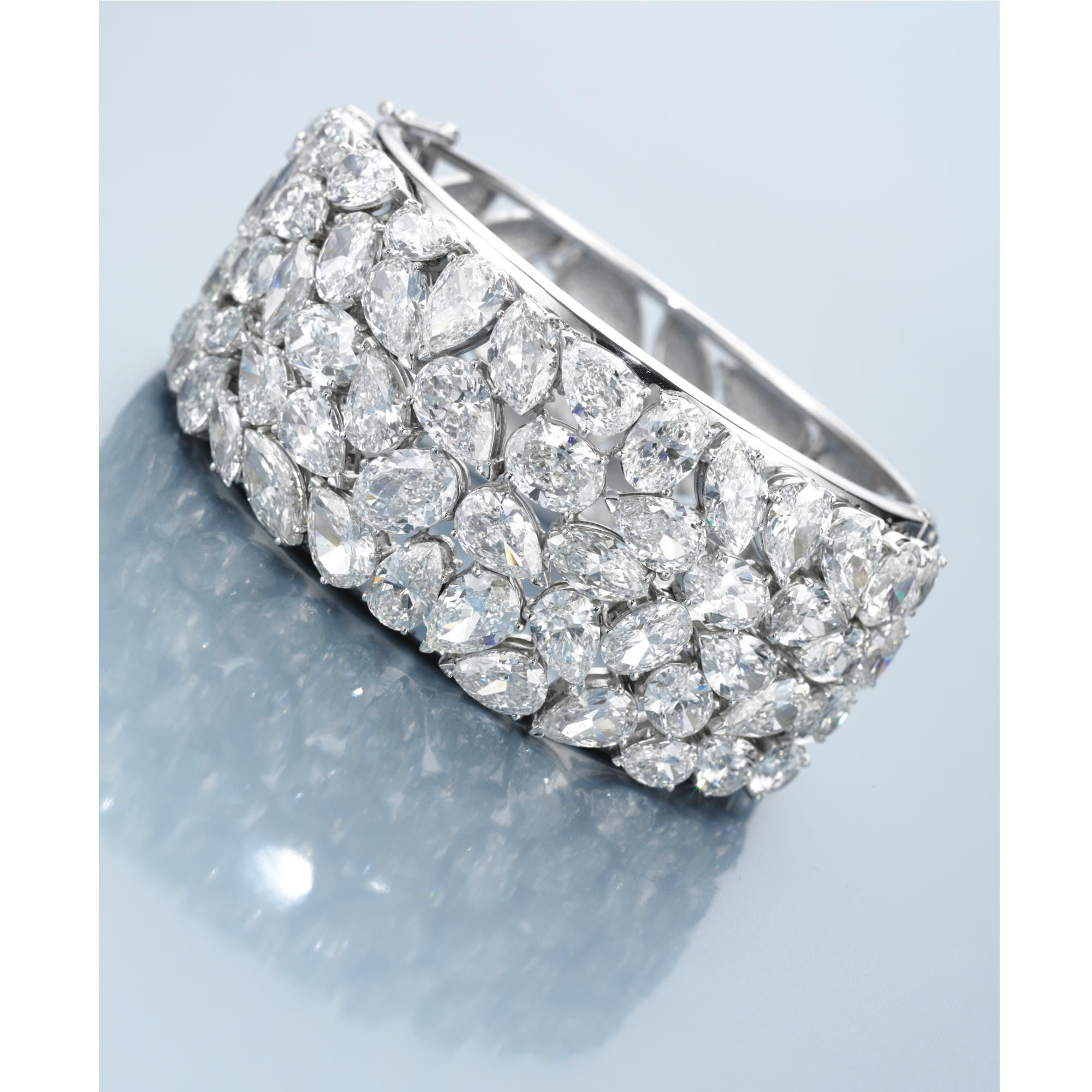 White gold diamond bangle that can be custom made just for you