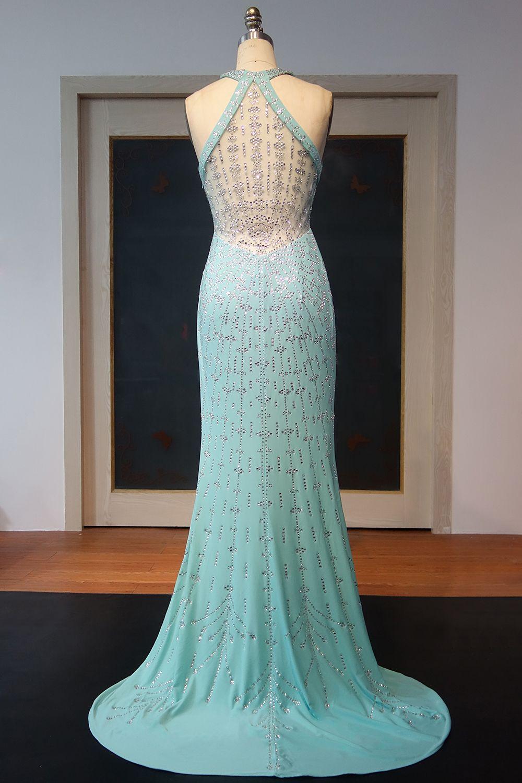 Mint Grün Luxus Abendkleider Lang Günstig Chiffon Abiballkleider