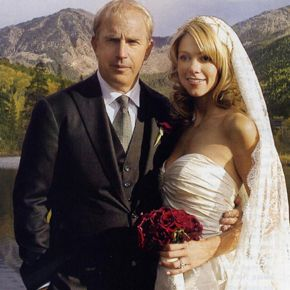 Kevin Costner and Christine Baumgartner wedding photo