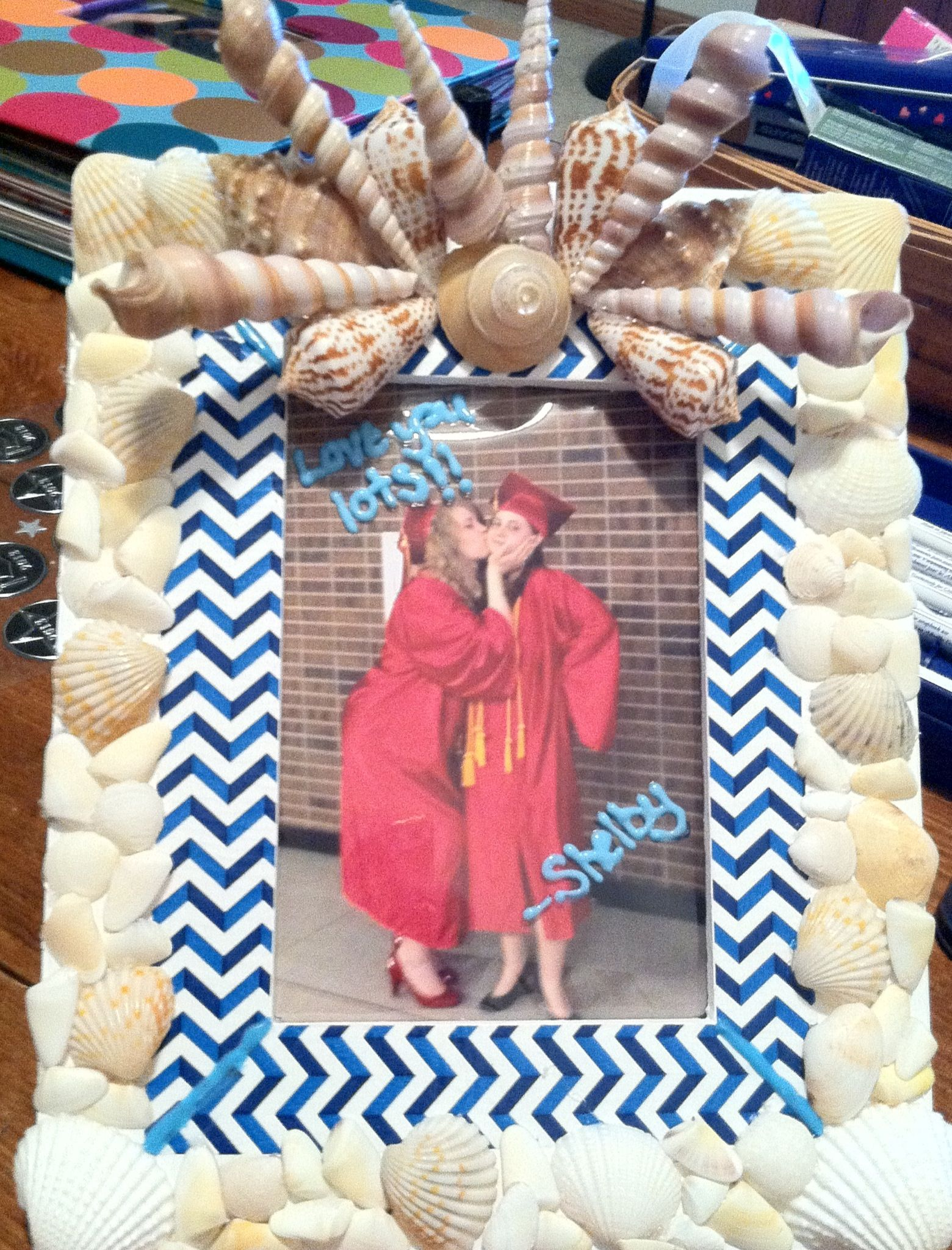 My Best Friends Homemade Going Away Gift Picture Frame Decorated