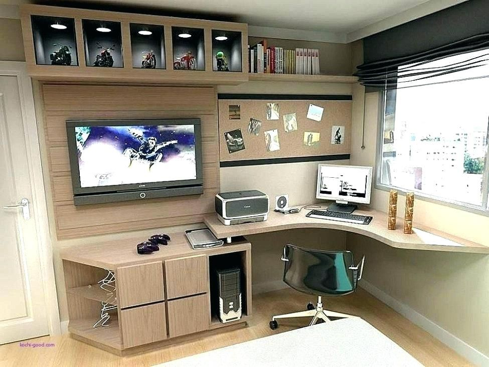 Image Result For Desk Entertainment Center Combo Small Home Offices Home Office Design Unique Office Desks