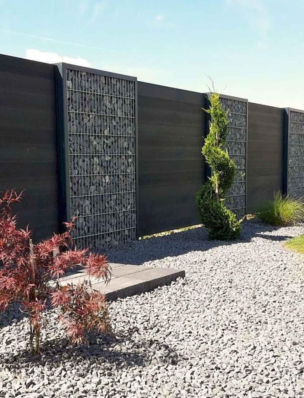 43 Gorgeous Gabion Fence Design For Garden Ideas Decoradeas Modern Modern Design 1 In 2020 Fence Design Gabion Fence Privacy Fence Designs