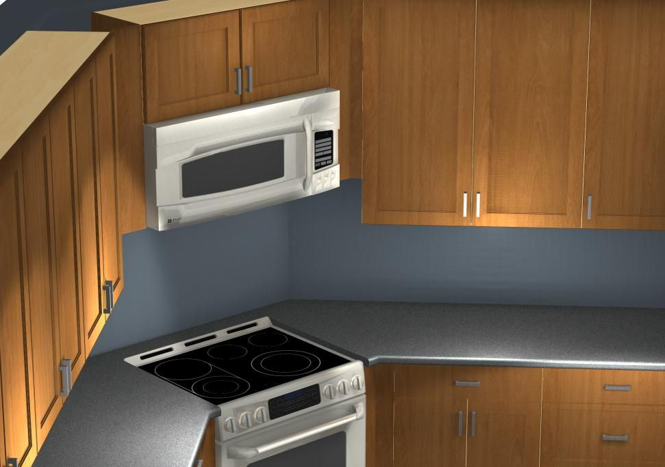 Common Kitchen Design Mistakes Corner Stove And Microwave Alignment Corner Stove Kitchen Layout Kitchen Remodel Small