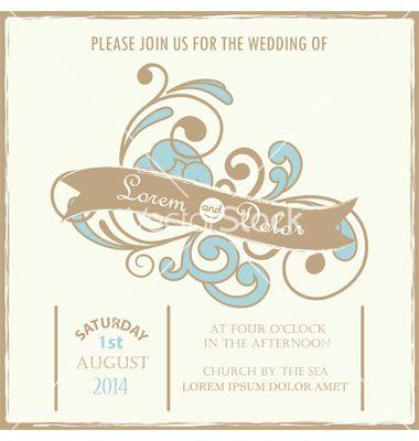 Wedding invitation vector by arnica on vectorstock design wedding invitation vector by arnica on vectorstock stopboris Gallery