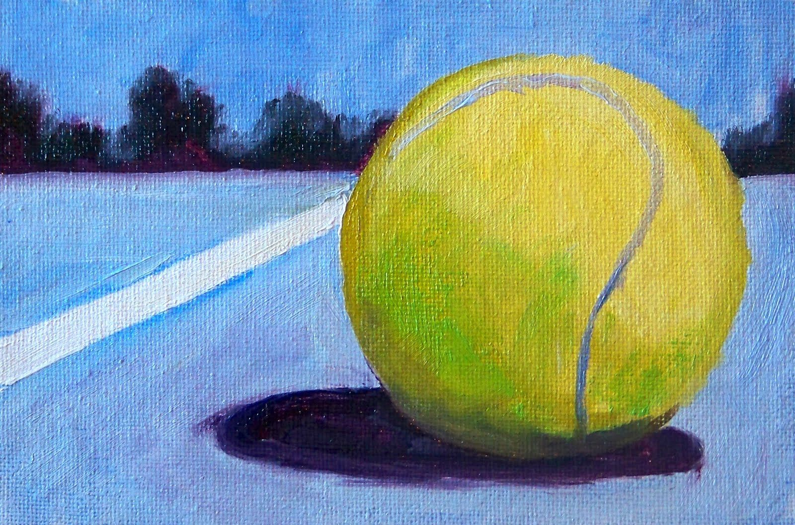 Painting Small Impressions Tennis Art Tennis Art Tennis Art Painting Tennis Artwork