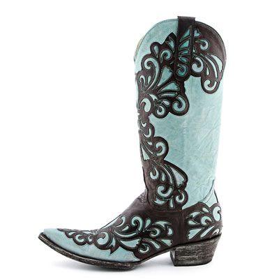 Old Gringo Linda Aqua Cowgirl Boots|Fashion Boots
