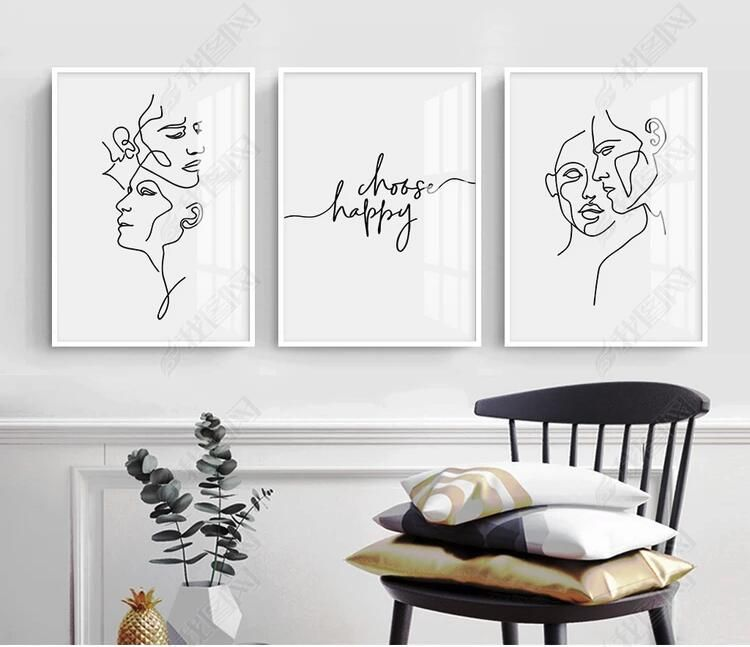 Abstract Women Line Drawing Nordic Poster Prints Modern Canvas Painting Wall Art Minimalist Wall Pict Minimalist Wall Art Modern Canvas Painting Diy Canvas Art