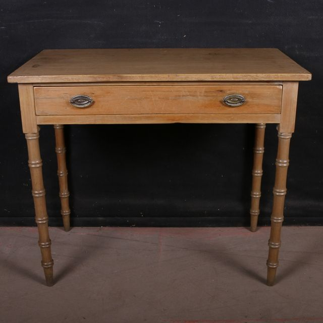 English Pine Side TableEarly 19th C English antique pine side table