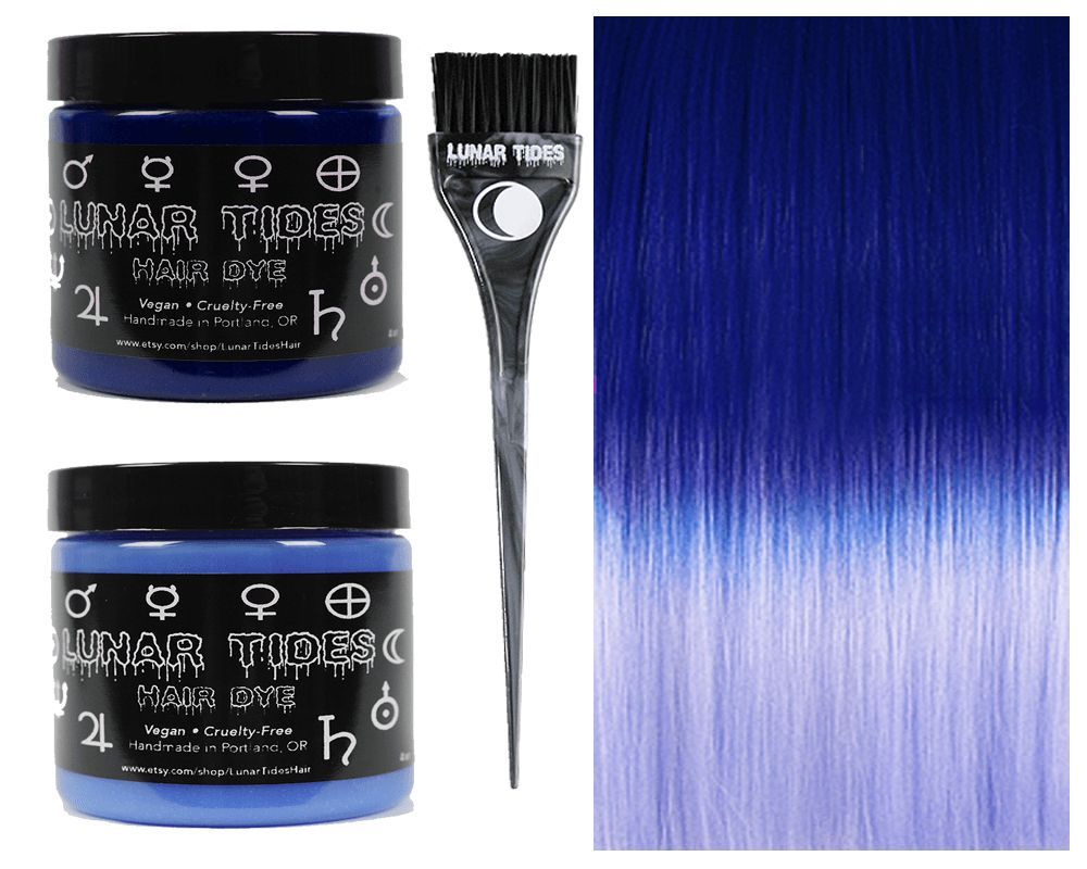 Blue diy ombre kit buy colored hair dye lunar tides pinterest