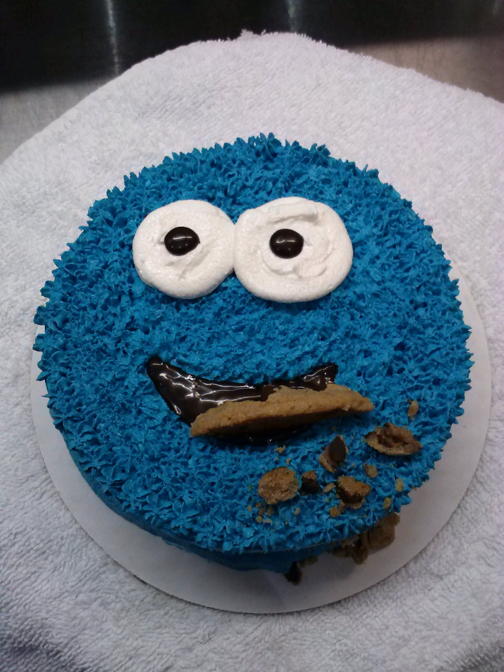 Cookie monster ice cream cake i made for a customer ben