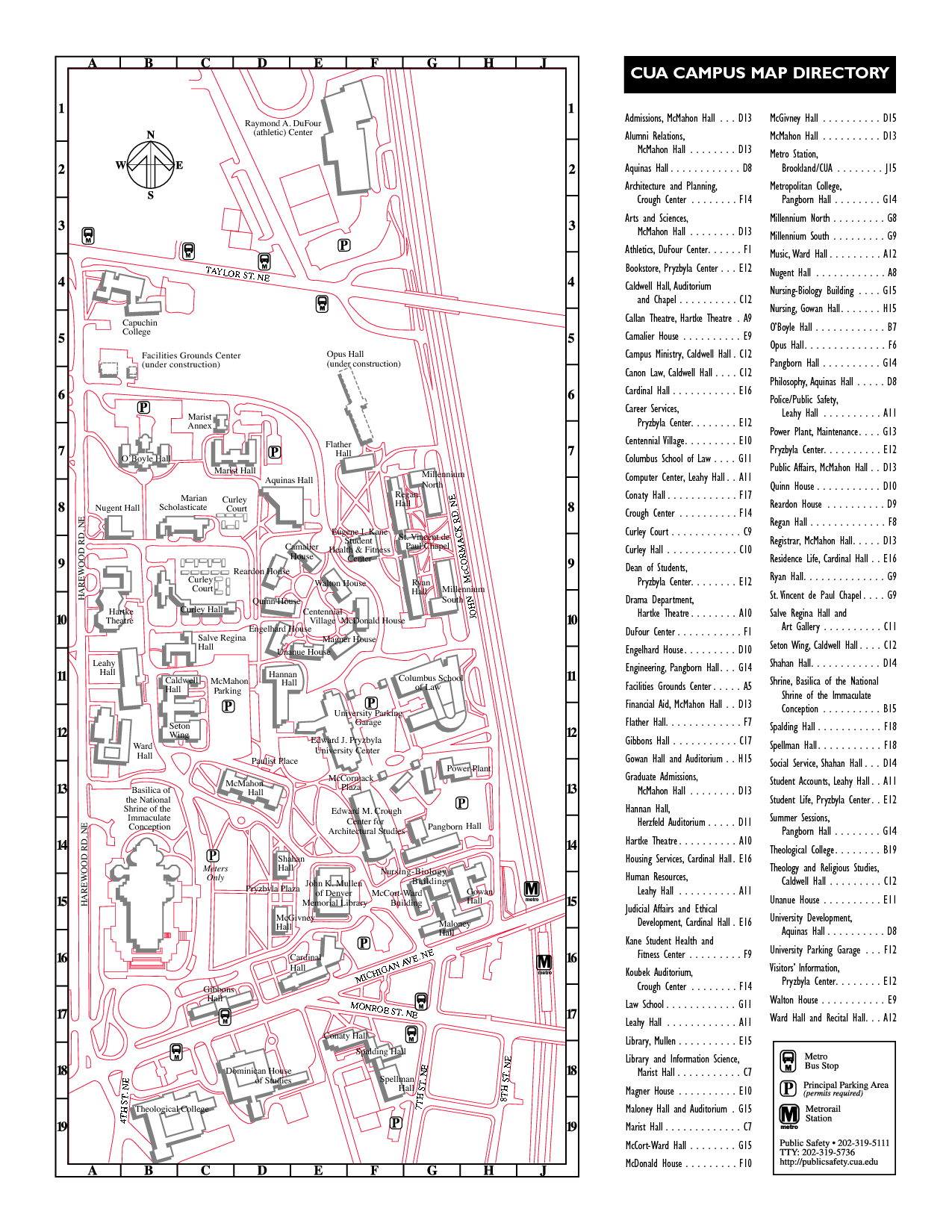 CUA campus map directory | BASILICA OF THE IMMACULATE CONCEPTION