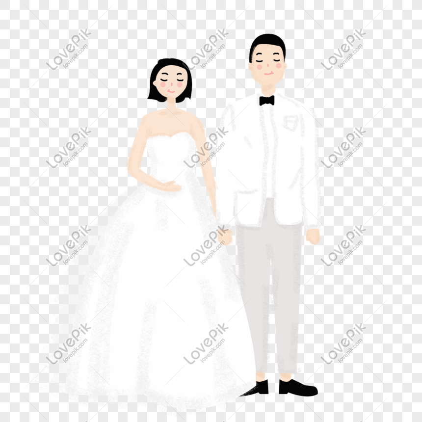 Loving Couple Hand Painted Material Wedding Graphics Web App Design Valentine S Day Poster