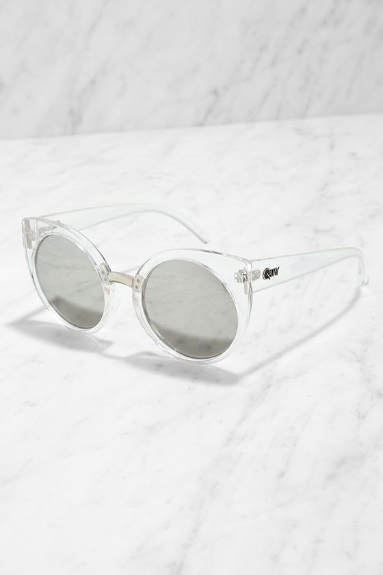 Quay China Doll Clear Mirrored Sunglasses at Lulus.com!