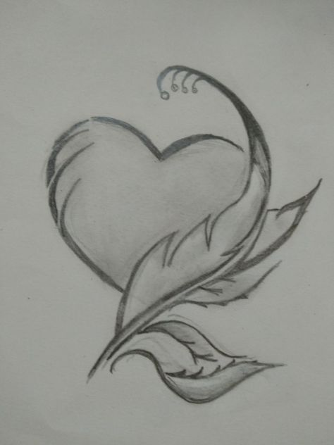 Drawing ideas pencil sketches heart 49+ Ideas