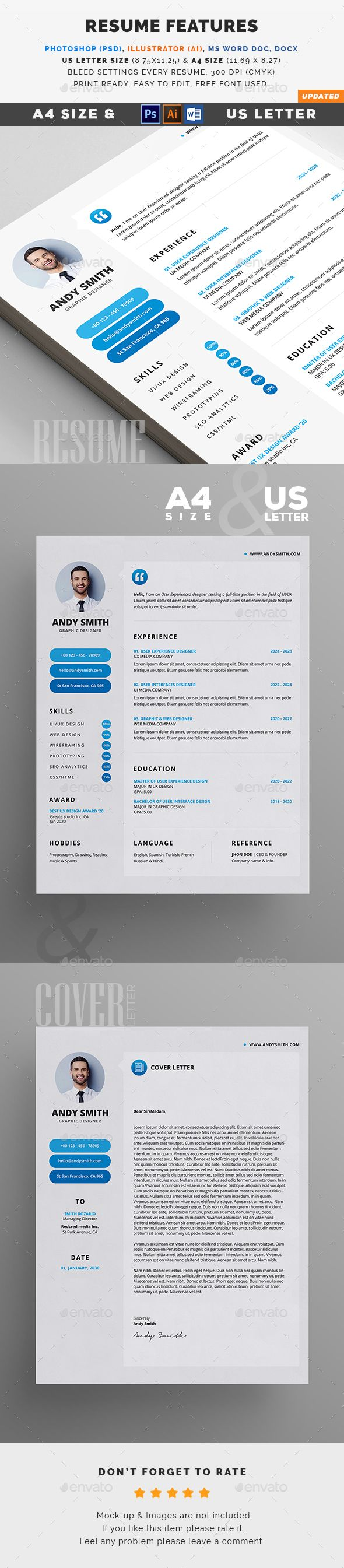 resume letter size a4 and filing