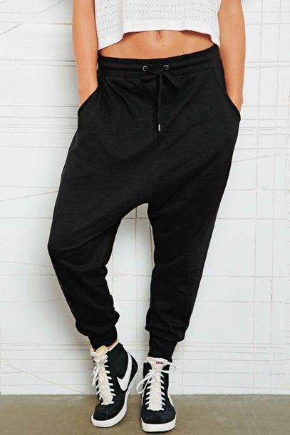 best loved abfea 9db1a pants nike nike blazer shoes high top sneakers black sweatpants harem pants  black t-shirt joggers fishermen pants yoga pants yoga trousers harem  trousers ...
