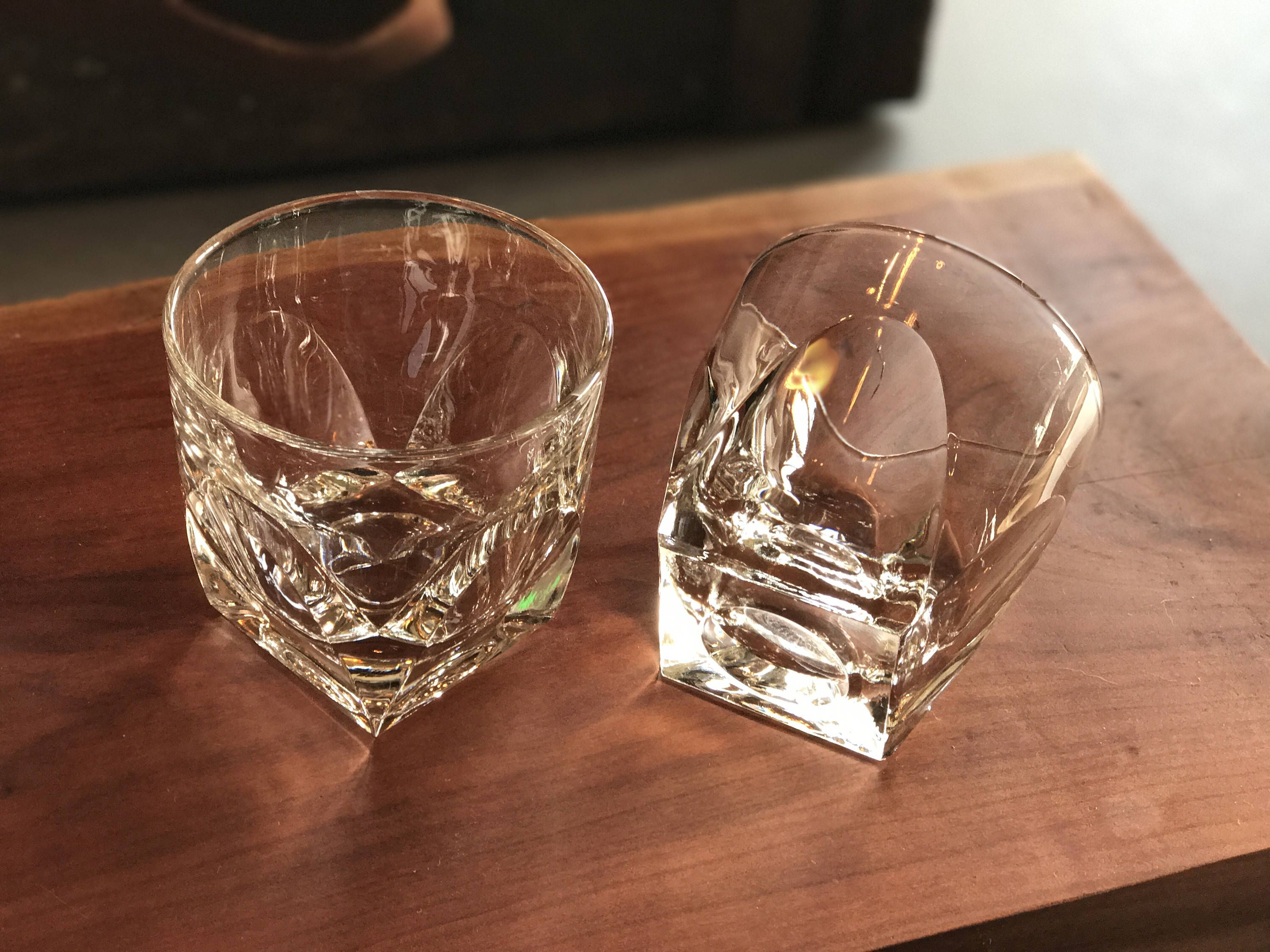 8 Retro Old Fashioned Glasses / 60u0027s   70u0027s Rocks Glass Set / Whiskey  Barware / Mixology