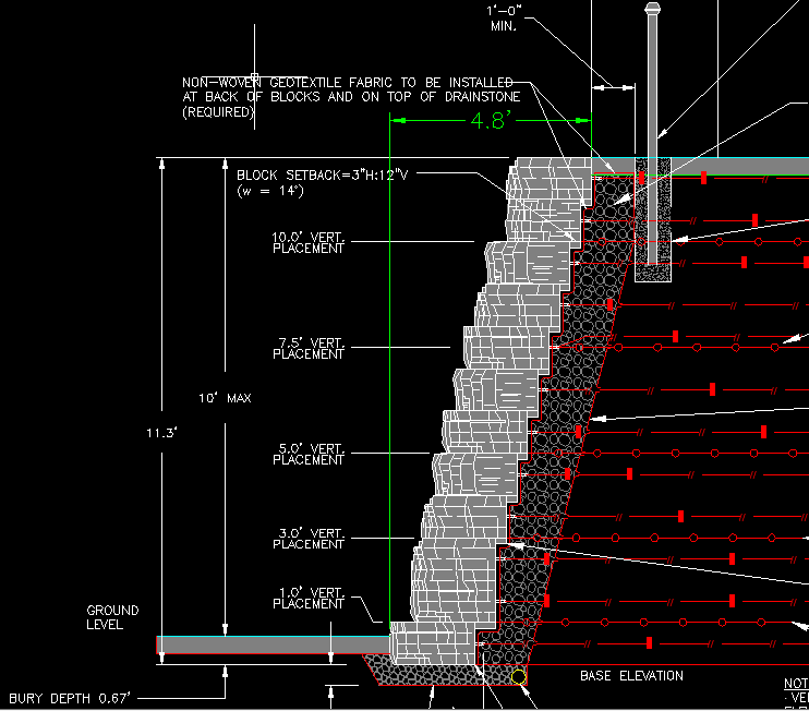 Stone Wall Elevation Cad : Image result for stacked stone wall detail cad