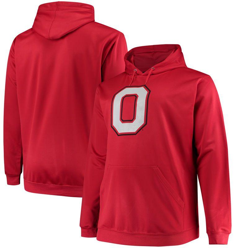 Ohio State Buckeyes Majestic Big & Tall Primary Logo Pullover Hoodie - Scarlet #ohiostatebuckeyes