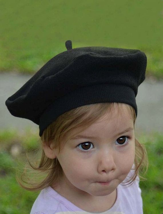 f9fe9d70 French Beret for Baby, Toddler, Children Felt Artist Art Party Kids ...