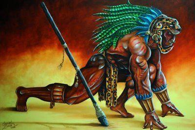 El Jaguar Entre Los Mayas Mayananswer Aztec Art Ancient Aztecs Aztec Warrior
