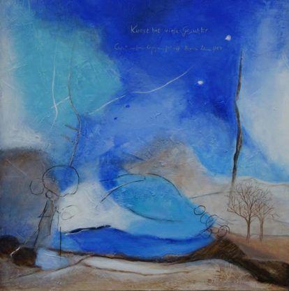 acrylbild auf leinwand grossformat mit struktur mittagsblau abstraktekunstdeppe de lonny deppe abstrakt acrylbilder abstrakte malerei große leinwände foto großformat