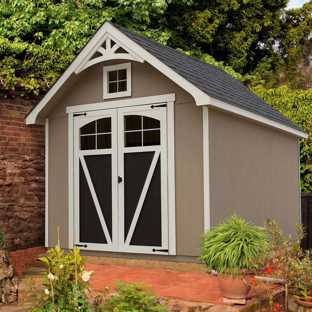 Ridgepointe 8 X 12 Wood Storage Shed Backyard Sheds Wood Storage Sheds Wood Shed Plans