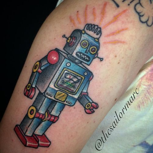 Traditional Robot Tattoo - Google Search