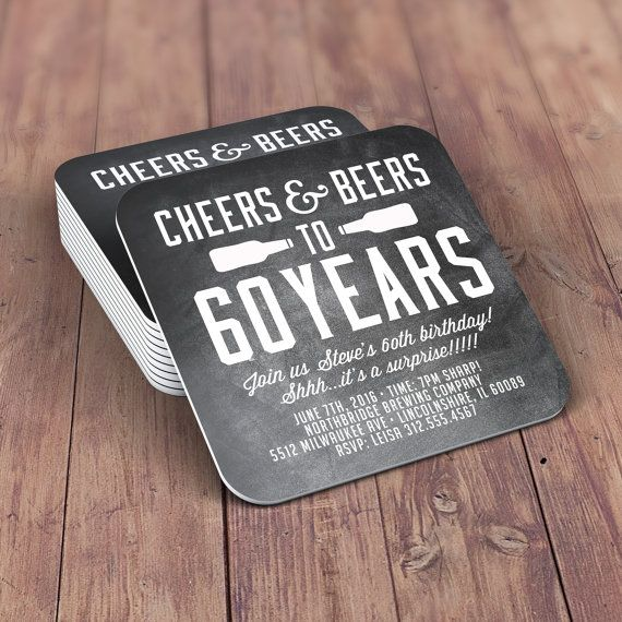 Digital Logo File, Coaster, Cheers And Beers Invitation