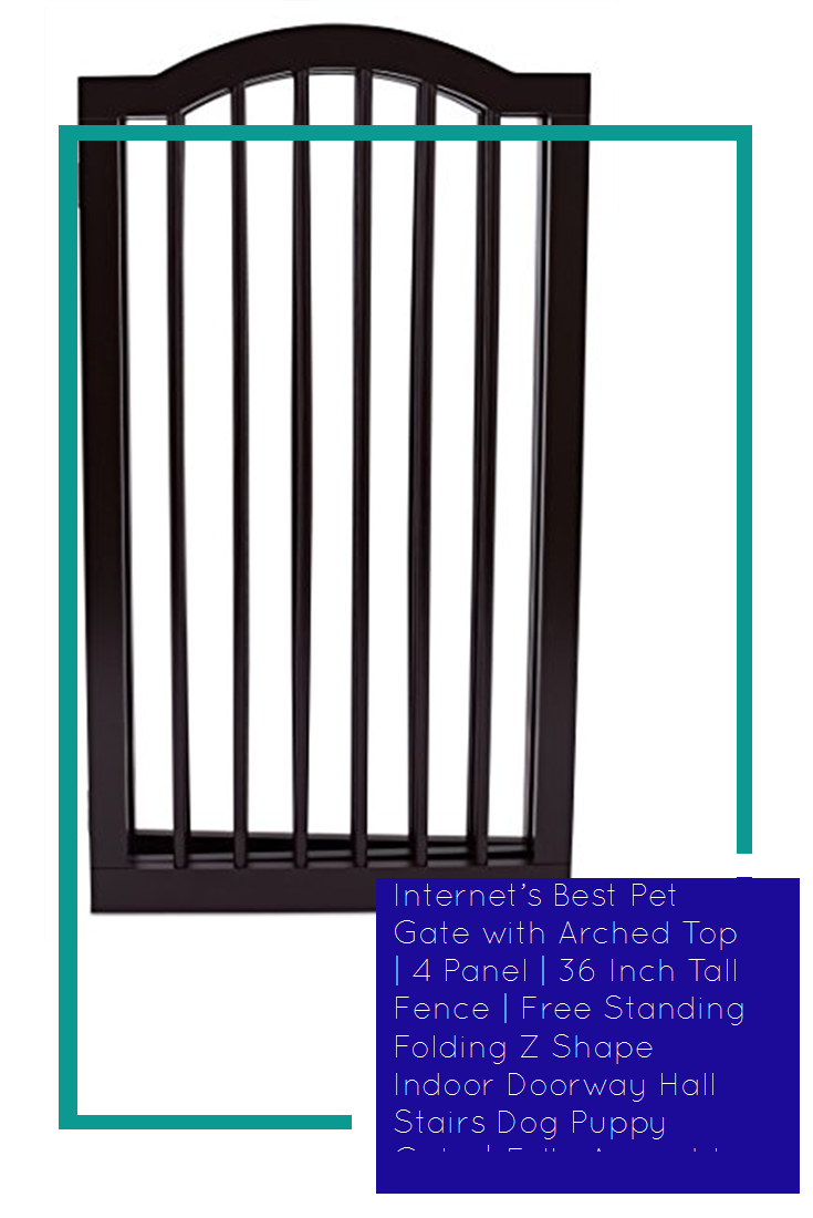 Best Pet Gate with Arched Top 4 Panel 36