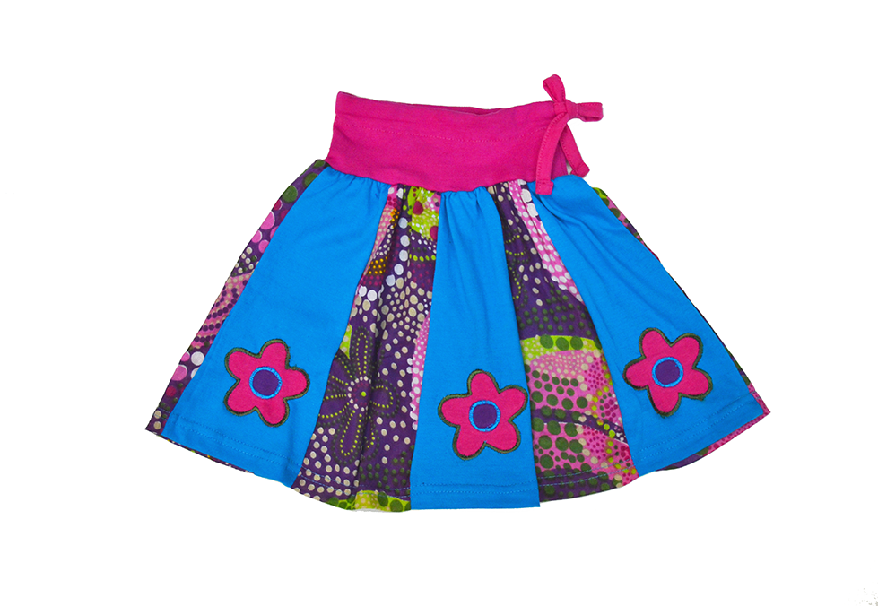6014f3da2 Hippie skirt for girls. Falda para niñas con pliegues super colorida ...