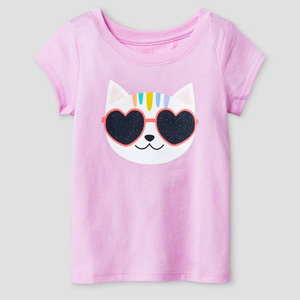 Baby Girls' T-Shirt Cat & Jack - Peppermint Stick 12M, Infant Girl's, Size: 12 M, Pink