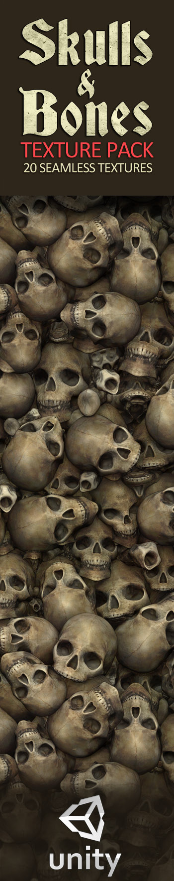 Skulls and Bones Textures  20 Seamless Textures and
