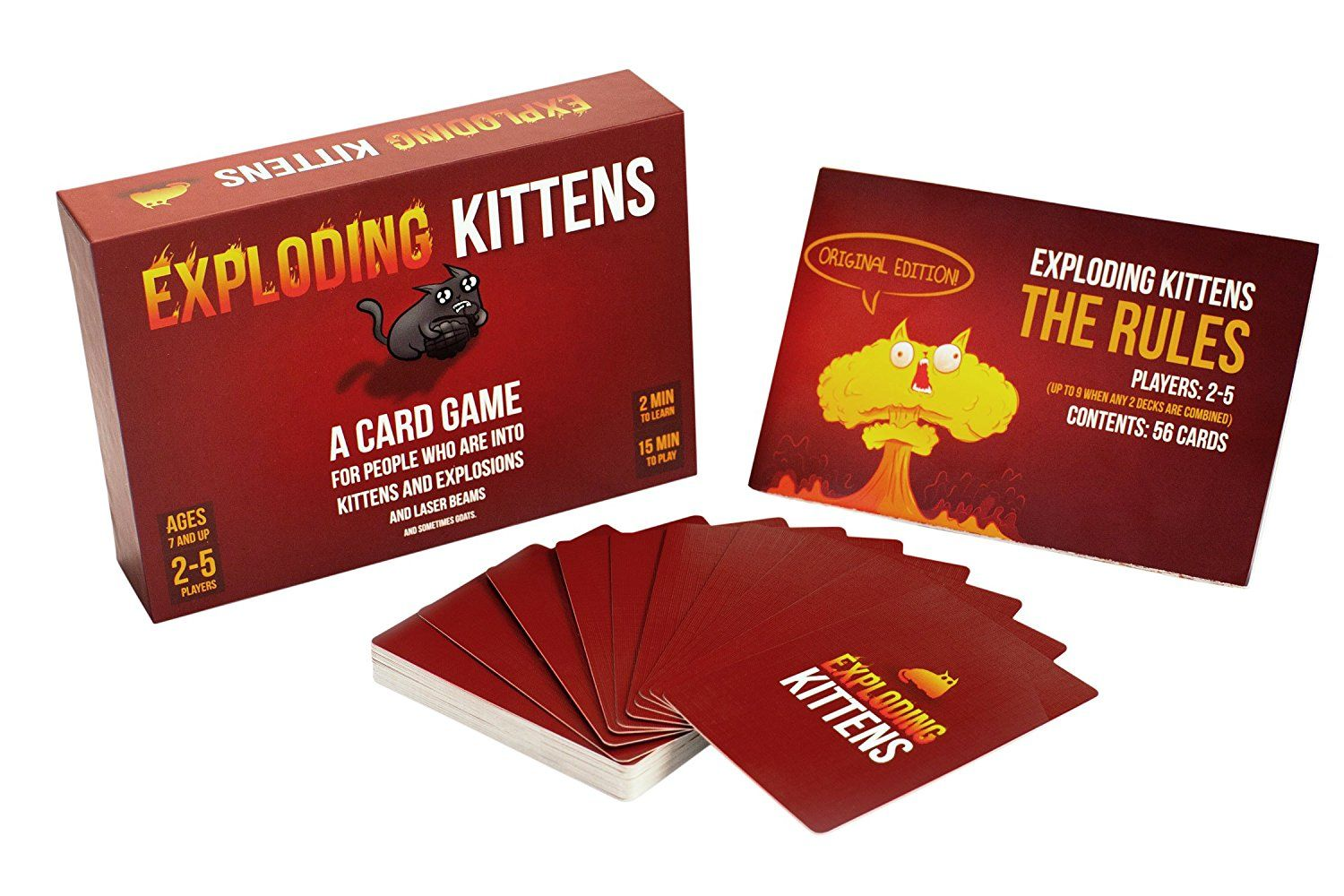Family Board Games Exploding Kittens This Is The Version Of Kitten Powered Russian Roulette With Lase Exploding Kittens Card Game Exploding Kittens Card Games