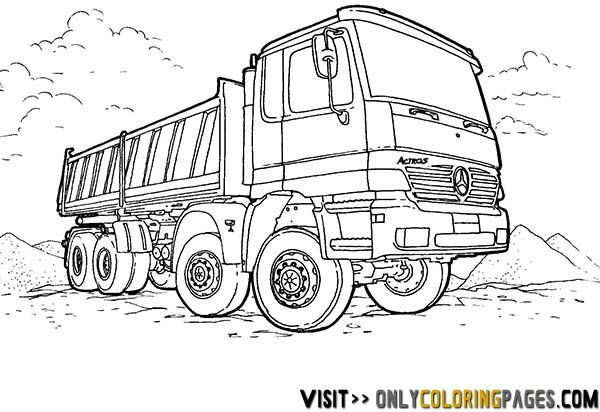 Mercedes Truck Coloring Sheets Only Coloring Pages Monster Truck Coloring Pages Truck Coloring Pages Valentines Day Coloring Page