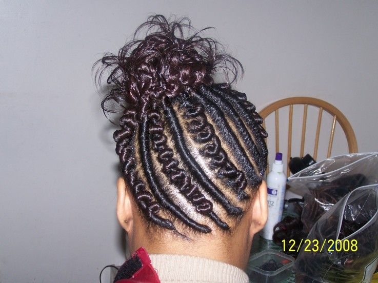 flat twist hair design knot