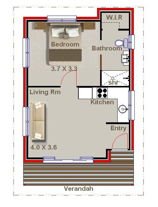 1 bedroom kit home australian kit home plans tiny home for One bedroom home kits