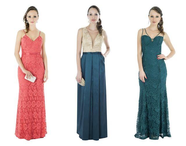 92a072d98 Modelos de vestido de festa para madrinhas e formandas. Vestido de renda